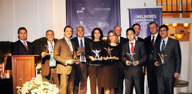"""Prêmio """"As Melhores Companhias para os Acionistas"""" 2011"""