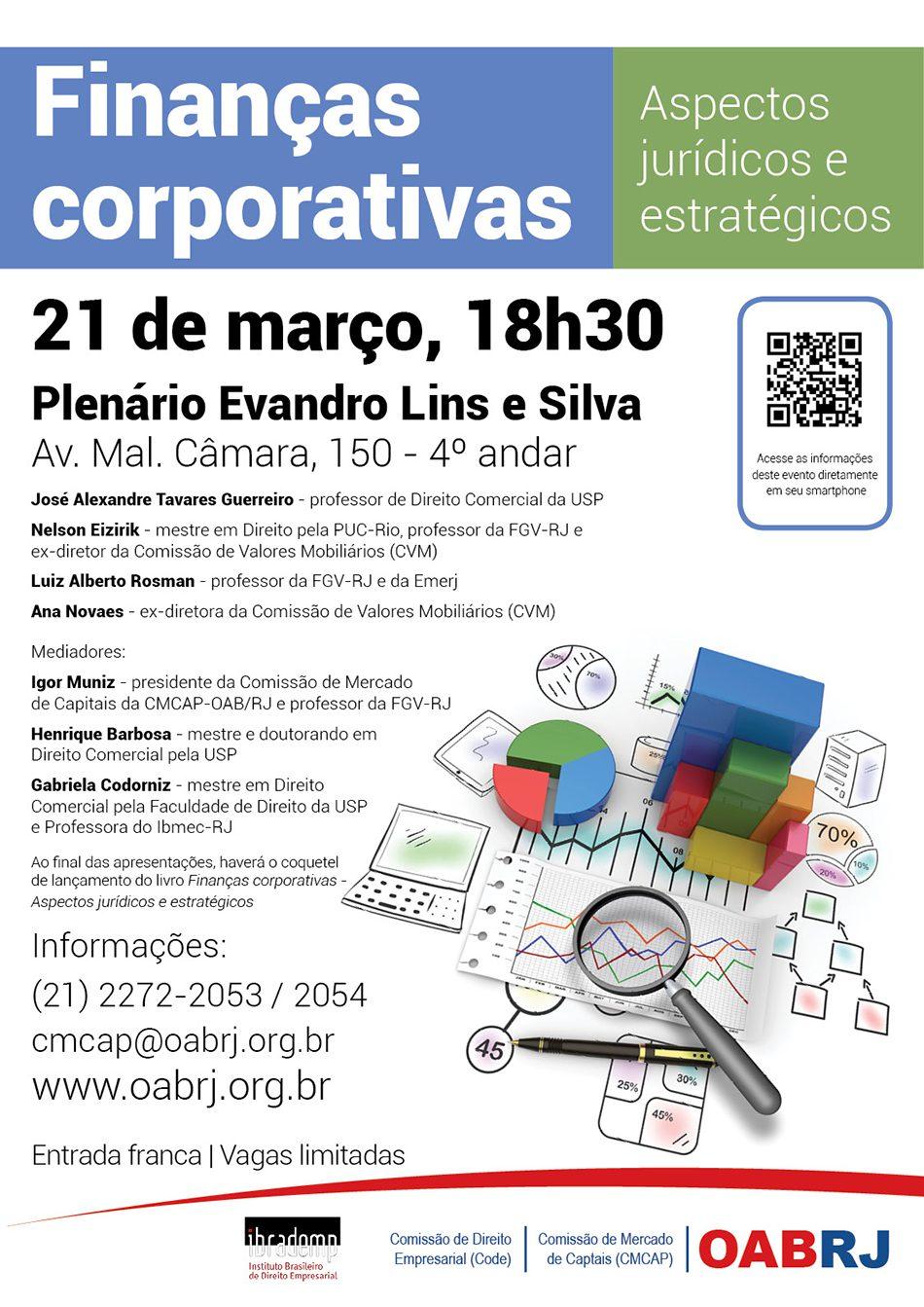 cartaz_CMCAP_Finanças corporativas – aspectos jurídicos e estratégicos