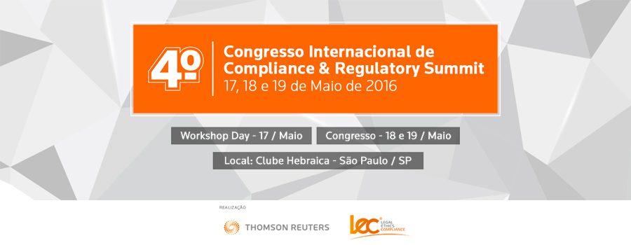 4º Congresso Internacional de Compliance & Regulatory Summit