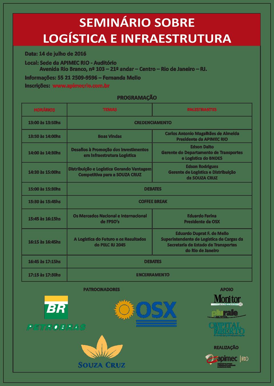Seminário sobre Logística e Infraestrutura_2016