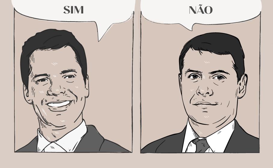 Marcelo Cavali e Otavio Yazbek em ilustração