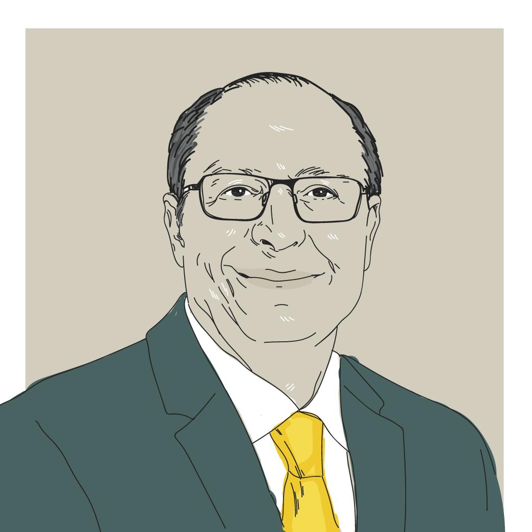 Ilustração digital do candidato a presidência Geraldo Alckmin