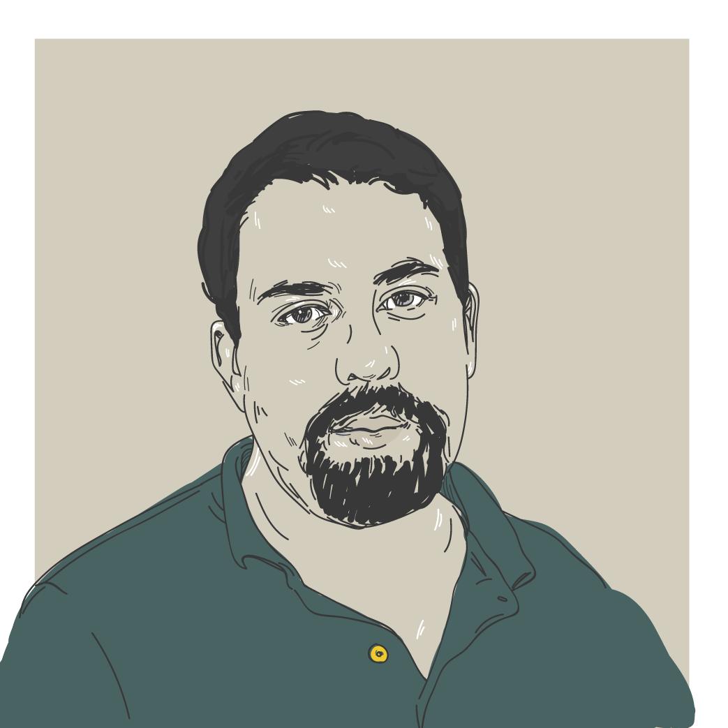 Ilustração digital do candidato a presidência Guilherme Boulos