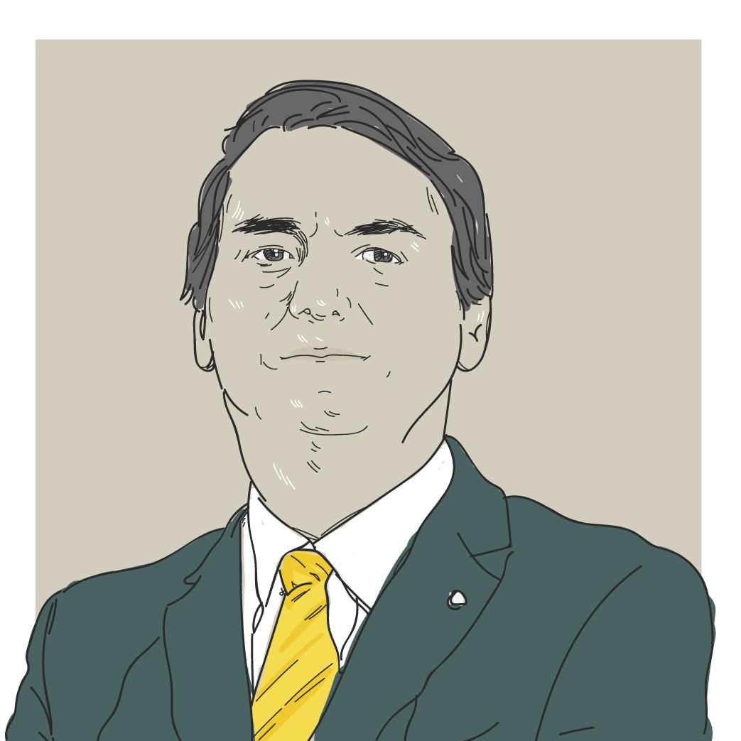 Ilustração digital do candidato a presidência Jair Bolsonaro