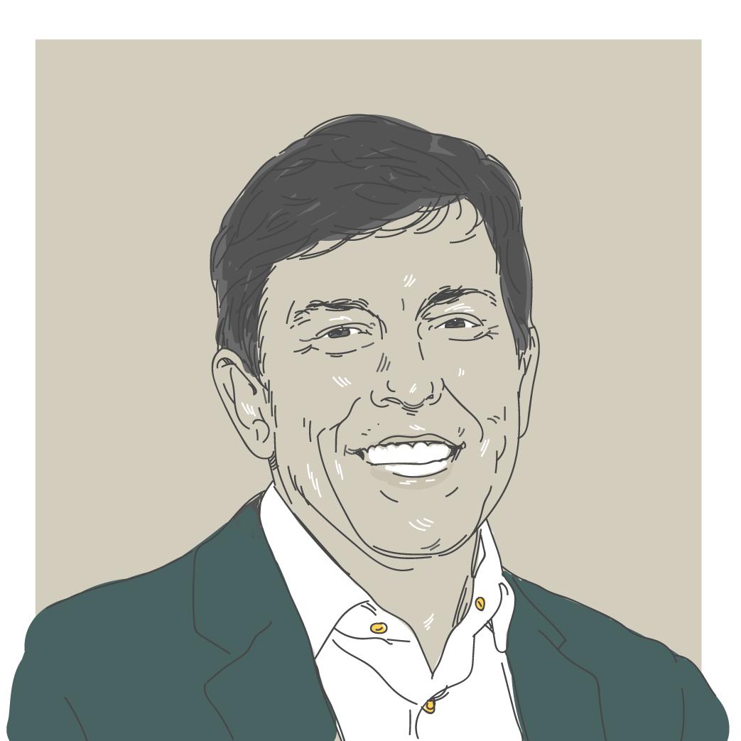 Ilustração digital do candidato a presidência João Amoêdo