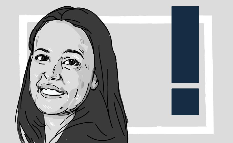 Retrato digital da Luciana Dias sorrindo