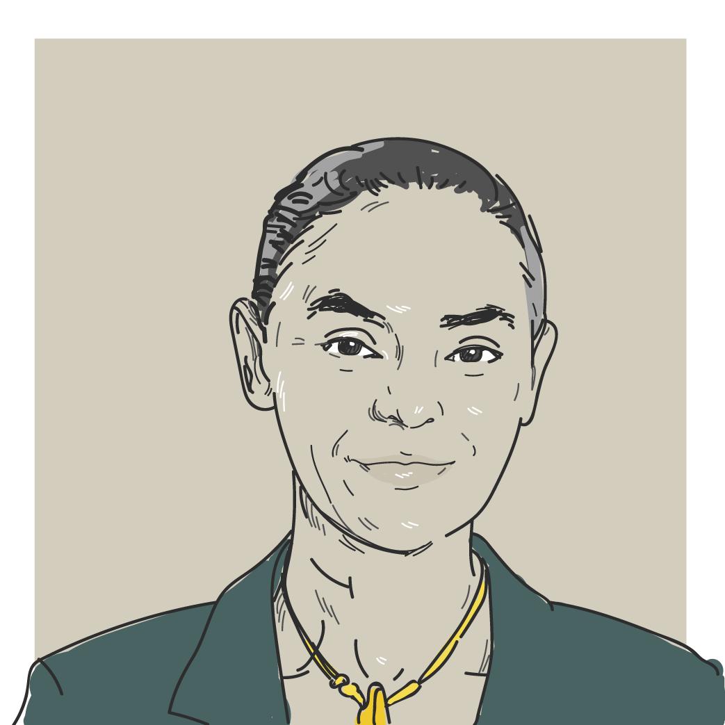 Ilustração digital da candidata a presidência Marina Silva