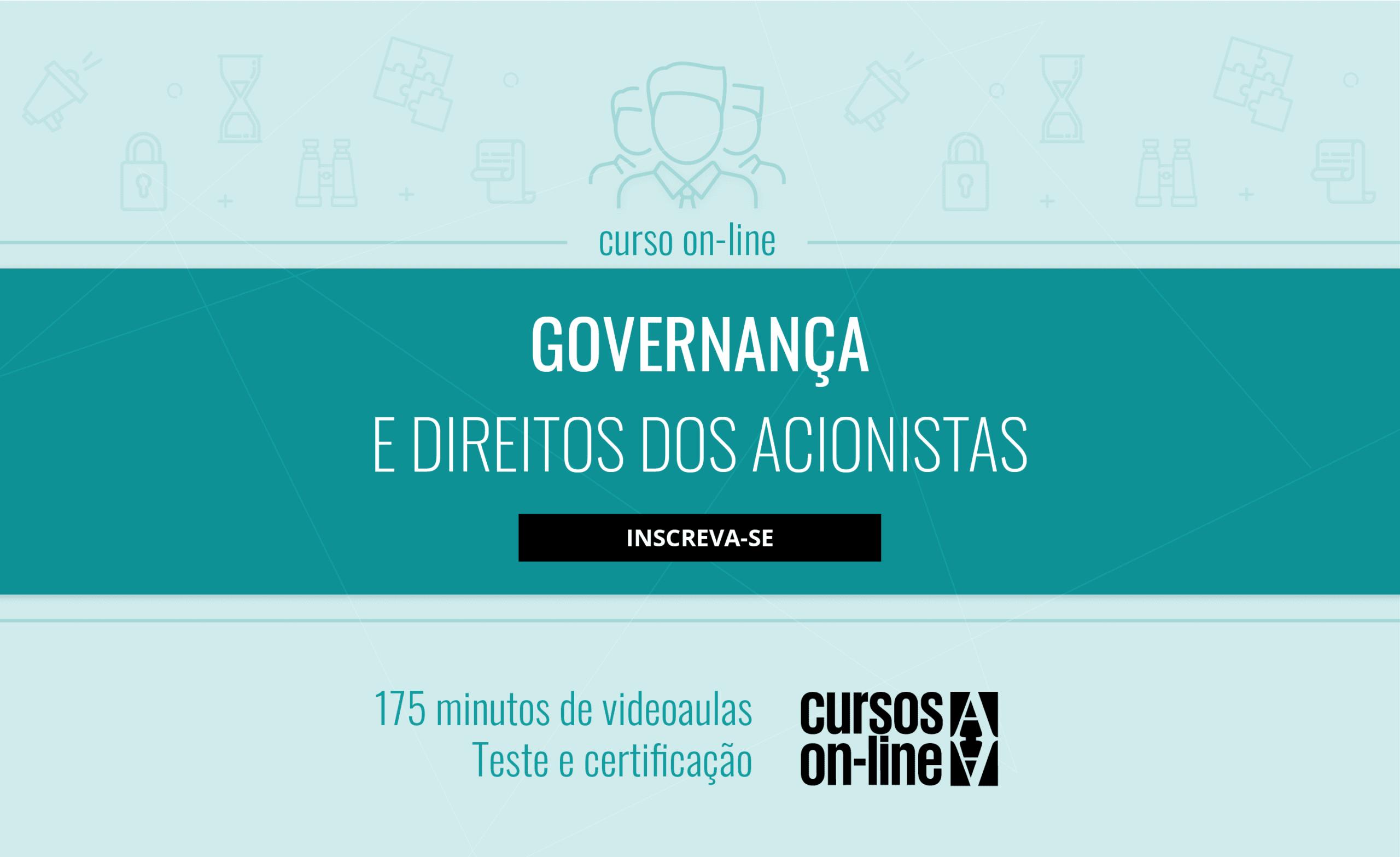Curso on-line Governança e direitos dos acionistas