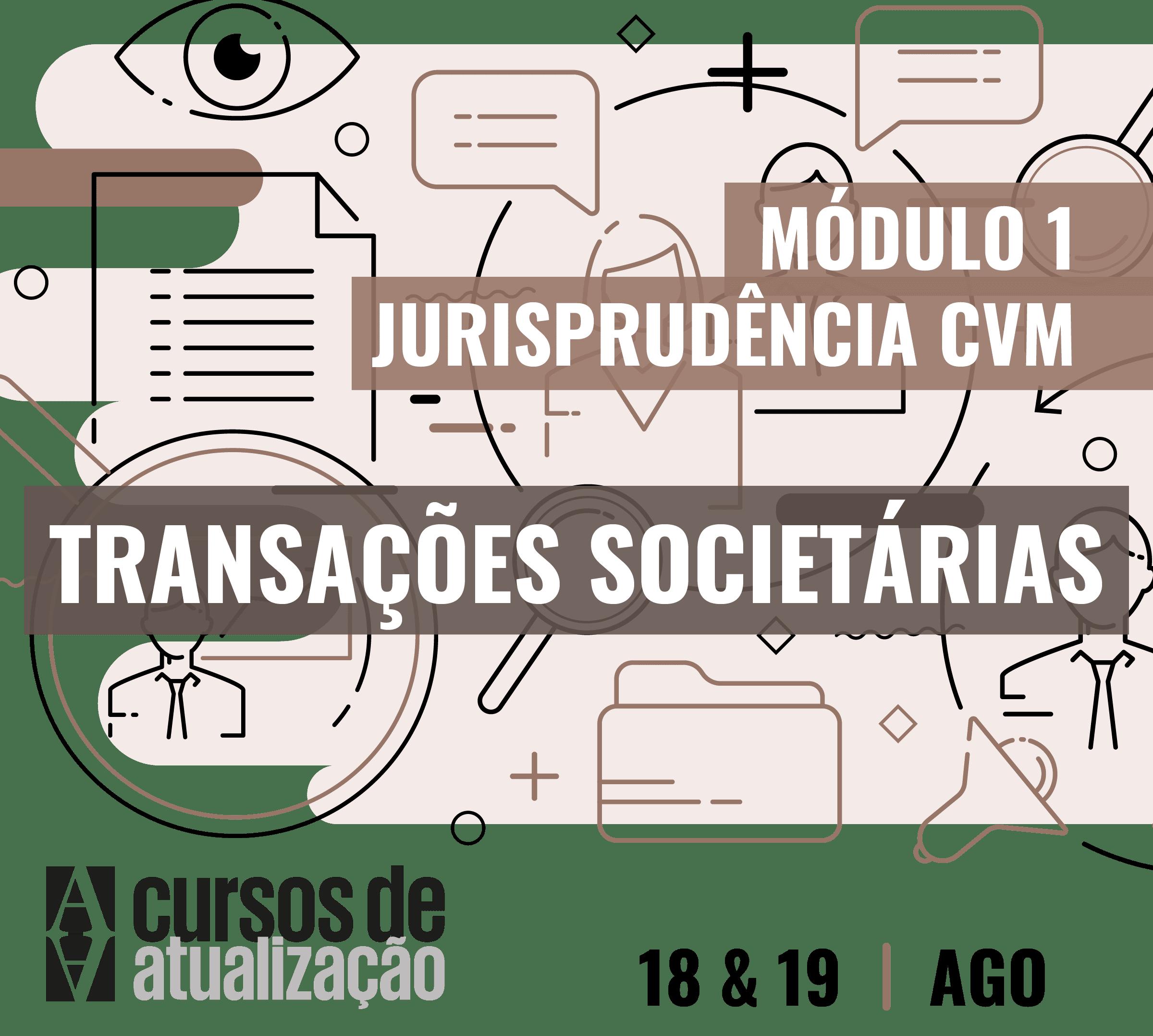 Módulo I – Transações Societárias