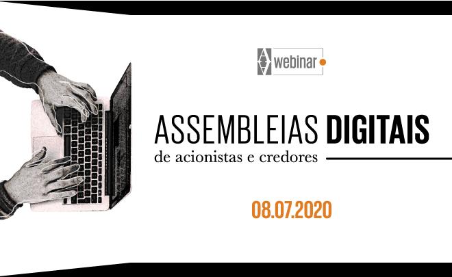 Assembleias digitais de acionistas e credores